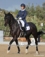 "Petra Lee rode ""Frantonio"" in the Advanced 5A on Saturday placing 5th with a score of 64.474%"