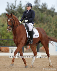 """""""Bloomfield Royal Winston"""" and Zoe Dennis in the Advanced 5B"""