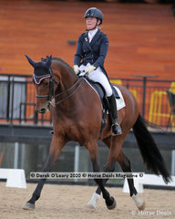 """Lucy McNutt placed 2nd in the Advanced 5A riding """"Thamesbourne Sunsmart"""" with a score of 64.803%"""