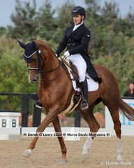 """""""Arnage Reflection"""" ridden by Jack Palfreyman placed 7th in the Advanced 5A on Saturday with a score of 63.816%"""