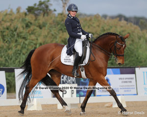 """Haylea Wright and """"Stanmore Park Ruby"""" in the Advanced 5B on Saturday placed 7th with a score of 61.825%"""
