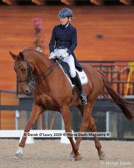 "Selina Brendish rode ""Jomanije Park Whitney"" in the Advanced 5B on Saturday"