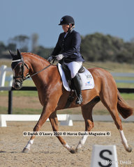 "Paula Heffernan rode ""Iris Park Premiere"" in the Preliminary 1A placing 5th with a score of 67.800%"