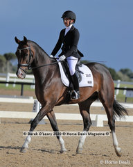 """Winners in the Preliminary 1A on Saturday, Nicole Redmond and """"Van Eyk Federation"""" with a score of 71.100%"""