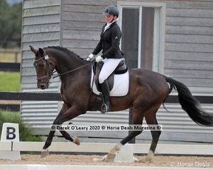 "Ebony Linford in the Preliminary 1A riding ""Woodvale Park Furst Monty"