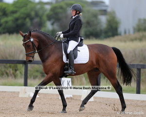 """Kathy Lewis rode """"Everton Waltz""""  placing 6th in the Preliminary 1A on Saturday with a score of 66.300%"""