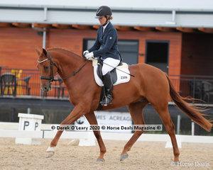 "Tammy Broersen rode ""Bulldog Run Vincenzo"" in the 4 Year Old Young horse scoring 69.600%"