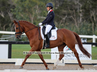 """Zoe Farrant rode """"Welstrom"""" in the Advanced 5B on Sunday with a score of 61.149%"""