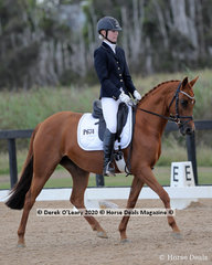 """Winners in the Preliminary 1B on Sunday, Chloe Salter and """"Huntingshire Barbie Doll"""" with a winning score 70.00%"""