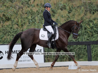 """Rachelle Wilson rode """"SPH Donner Cara"""" placing 2nd in the Medium 4C on Sunday with a score of 65.834%"""