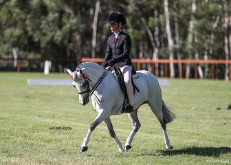 Runner-Up Ridden Australian Saddle Pony of the Year Chrysler Park Pixie & Maddison Ball.