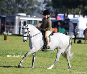 "Winner of the Child's Show Hunter Pony 12.2-14hh ""Harwell Tinkerbell"" and Isabella McMahon."