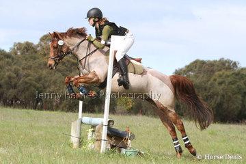 M Bosworth riding Emblem Royal Blue