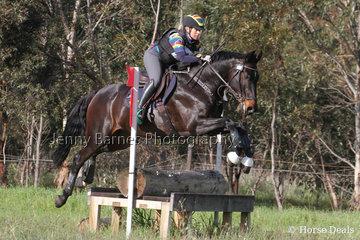 M Jones riding Toulando