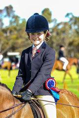 Ellana Princie rode the Fricker family's Corumbene Kit Kat to Champion Junior rider