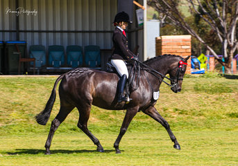 Sophie Vaile enjoyed returning to the show ring riding her own CP Masterpiece.