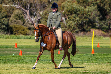 Young Eliza Kerslake enjoyed a great day out returning to the show ring on Keyi Chirico winning her Riding and Show hunter pony events.
