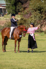 13yr old Heidi Niejalke rode her beautiful Aria Le Belle to be awarded Champion Galloway by judge Shannen Graham.
