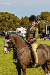 Eagle Park Showdown was ridden by successful junior rider Tiana Schaefer to Reserve Champion small show hunter pony.