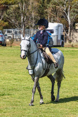 A very talented 5yr old Sienna Nordhausen was all smiles after winning the rider under 8 on her new pony Dalbrae Viking.
