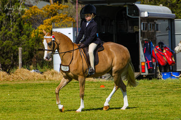 Young Nyah Clark enjoyed a great day riding several Rivington ponies including  her own new pony Rivington Topsy Turvy.