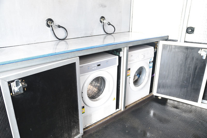 Can anyone remember going to the laundromat? No need here as there is a washer and dryer on board.
