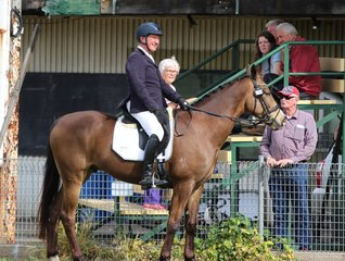 Heath Ryan and his eventer Bornze Boy eyeing off the competition