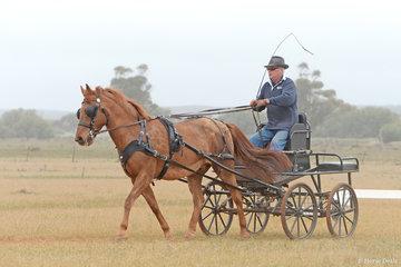 Henry Crossley driving 'Dennis'