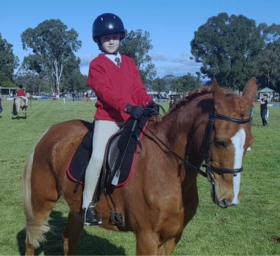 Below: Adam Mundy and 'Yogi' at one of their first competitions.