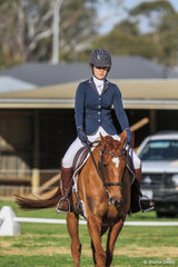 Julia Goodall riding 'Airplay' placed 3rd in the 95.5 class.