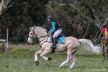 Sasha Crawford riding 'What A Gem' placed 5th in the 80 Div 2.