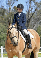 Erin Borg riding This Chics No Wimp in Youth Hunt seat Equitation.