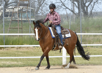 Tommy Read and Lethal Lexi in the Inermediate Ranch Riding.