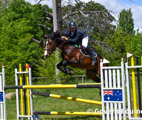 Stephen Dingwall and the well-bred young stallion Bellhaven Bluegum finished second in the Grand Prix
