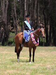 Supreme rider of the Show .Charlee Anthony. riding Tremayne Royal Opera