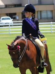 Champion Junior rider Brianna Hay