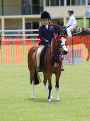Ally Willis Champion Rider in the under 10  ring