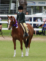 Serita Lee Vieira Champion Rider in the under 10 ring