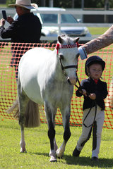 Dakota Philip cute as a button in the lead pony with Duchess