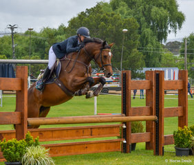Alissa Williams looks to have a nice young horse in Kaluga