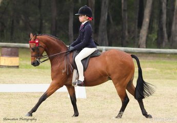 Charlee Latham rode her Merivale Park Georgio to claim Champion Open Pony