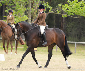 Ella O'Doherty was very busy at this year's Orbost Spring Show. Here she is pictured on Brooke Wheeler's Foxleigh Scimitar that went Champion Childs Show Hunter Horse and Champion Show Hunter Hack