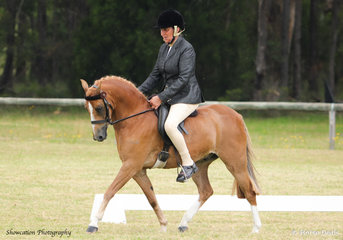Sheldene Cody is pictured with Shelley Penny in the saddle who claimed Champion Show Hunter Pony