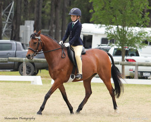 Matilda March was thrilled to be riding in the Supreme Championship on her Naaman Valentina after winning Champion Open Pony