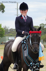 A very grown-up Ella O'Doherty is pictured abord her Braeleigh Evander that won Champion Ridden Galloway and went on to claim Supreme Champion Ridden Horse
