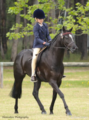 Gracie Gartung rode her Blackwood Bo Peep to win herself a broad sash as Reserve Champion Open Pony