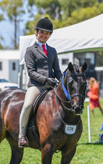 Aida Natale & Lily's Pagent had a win in the large class for Ridden Hunter Ponies 13hh n/e 14hh.