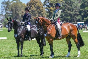 Champion and reserve riders in ring 2 were good friends Ava Halloran & Arielle Stella