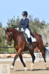Madeleine Bills chose a delightful Mary Poppins medley to produce an entertaining Junior Freestyle on the final day of the Homes & Acreage Boneo Park Summer Dressage Championships.