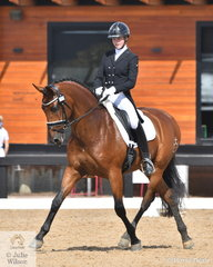 Olivia Gillespie chose a South American theme to entertain the crowd and take fourth place in the Complete Fire Supply Co Young Rider Freestyle riding her PRE gelding, 'Versace' by AnimosoXLVII.